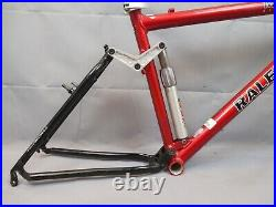Raleigh M8000 Vintage FS MTB Bike Frame 18 Large Softtail Cant USA Made Charity