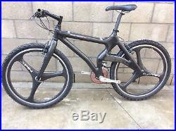 Rare Monolithic Frame Mck 17 Carbon Bike Shimano Xtr / Ac / Spin Carbon Wheels