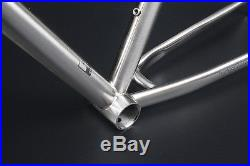 Reynolds 520 MTB Bike Frame Fork 27.5 650B Chrome Steel Frameset Classic Silver