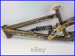 Scott Voltage FR20 26 Downhill Freeride Bike Frame Brown & Gold USED 005