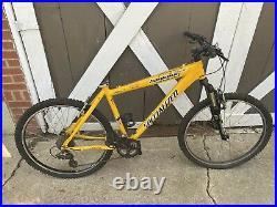 Specialized HardRock Sport A1 Aluminum Frame Yellow Mountain Bike