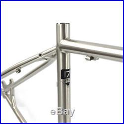 Tsunami Chrome Reynolds 520 MTB Bike Frame Fork 27.5 650B Steel Frameset