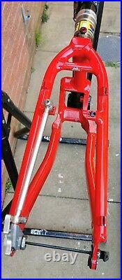VGC Cannondale Raven Super V 2000 frameset carbon alloy frame, lefty, extras
