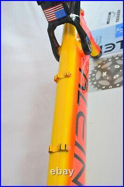 Vintage KLEIN MANTRA Race Koi Orange Full Suspension Mountain Bike FRAME 19.5 L