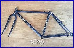 Vintage Ritchey Comp Fillet Brazed 17 Mountain Bike Frameset Blue 7C1 1980s