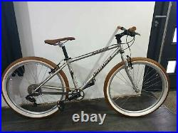 Vintage Silver Hardtail Specialized Rockhopper Nitanium Mountain Bike 15 Frame