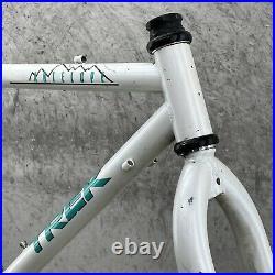 Vintage Trek MTB Frame Set 830 Antelope Tange Butted 18 CRMO White Celeste