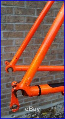 Vtg Gary Fisher Paragon Frame Fork 19-1/2 Retro MTB Signal Orange Quad Tange
